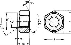 Гайка DIN 2510 - размеры, характеристики.