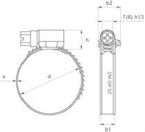 Нержавеющий хомут DIN 3017 - размеры, характеристики.