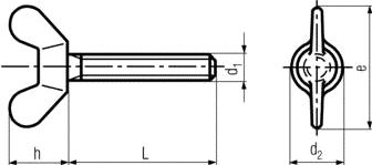 DIN 316 — винт барашковый.