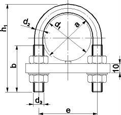 Скоба болт (хомут) DIN 3570 - размеры, характеристики.