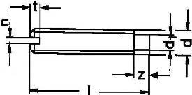 DIN 417 — винт DIN 417 — винт без головки установочный со шлицем.
