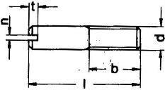 DIN 427 винт установочный, штифт резьбовой