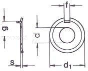 DIN 432 — шайба стопорная, с усиком.