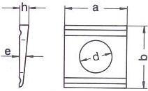 DIN 434 — шайба квадратная косая.