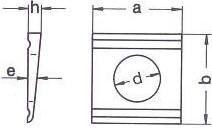 DIN 435 — шайба квадратная для двухтавром.
