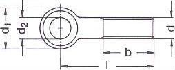 Болт винт DIN 444 - характеристики, размеры.