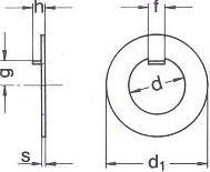 DIN 462 — шайба с ушком стопорная.