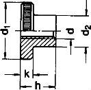 DIN 466 — гайка с накаткой нажимная.