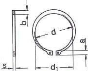 DIN 471 — кольцо для вала, стопорное.