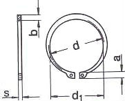 Кольцо DIN 471 - размеры, характеристики.