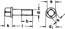DIN 478 — винт с квадратной головкой, неполной резьбой.