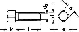 DIN 479 — винт с полной резьбой, установочный.