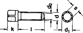 Винты болты DIN 480 - размеры, характеристики.