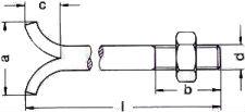 DIN 529 — Болт фундаментный анкерный.