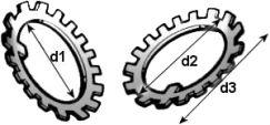 DIN 5406 — шайба стопорная многолапчатая.