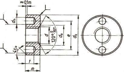 DIN 547 — гайка круглая с отверстиями.