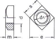 DIN 557 — гайка квадратная с фаской.