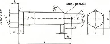 Болт DIN 564 - размеры, характеристики.