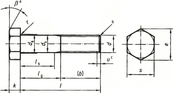 Болты DIN 601 - размеры, характеристики.