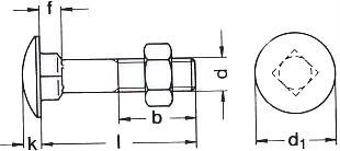 DIN 603 — болт с круглой головкой и квадратным подголовником.