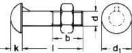 DIN 607 — винт с круглой головкой и усиком на подголовнике.