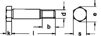 Болт DIN 609 - размеры, характеристики.