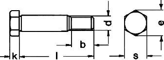 DIN 610 — болт с шестиграной головкой и короткой резьбовой цапфой.