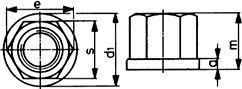 DIN 6331 — гайка высокая с фланцем.