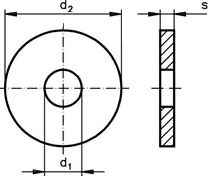 Шайба DIN 6340 - размеры, характеристики.