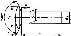 Заклепки DIN 662 - размеры, характеристики.