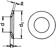 DIN 6796 — шайба пружинная тарельчатая.