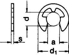 DIN 6799 — шайба быстросъемная упорная стопорная.