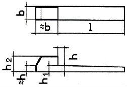DIN 6884 — шпонка клиновая.