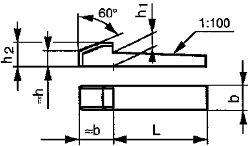 Din 6887 — шпонка врезная клиновая.