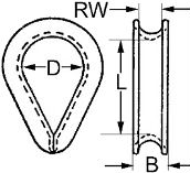 DIN 6899 — коуш для каната, троса.