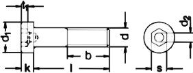 DIN 6912 — болт винт с низкой головкой и внутренним шестигранником.