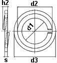 DIN 6913 — шайба пружинная с защитным пояском.