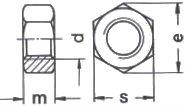 DIN 6915 — гайка высокопрочная шестигранная.