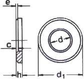 DIN 6916 — шайба высокопрочная плоская.