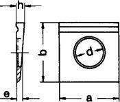 DIN 6917 — шайба клиновая косая квадратная с прорезью.