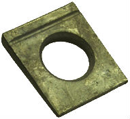 DIN 6917 — шайба клиновая квадратная косая с прорезью.