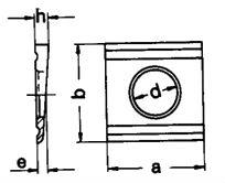 DIN 6918 — шайба клиновая косая квадратная с двумя прорезями для двутавровых балок.