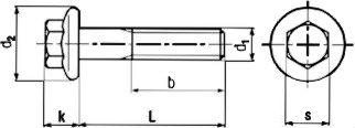 DIN 6921 — болт с шестигранной головкой и фланцем.