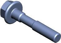 DIN 6922 — болт высокопрочный с переходным концом и фланцем.