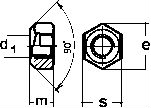 DIN 6925 — гайка самоконтрящаяся, стальная.