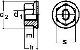 Гайка DIN 6927 - размеры, характеристики.