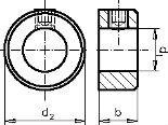 Din 703 — кольцо установочное регулировочное с резьбовым отвертием.