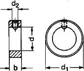 DIN 705 A — кольцо установочное с резьбовым отверстием.