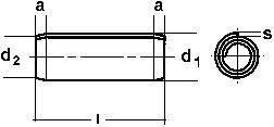 DIN 7343 — штифт спиральный пружинный.