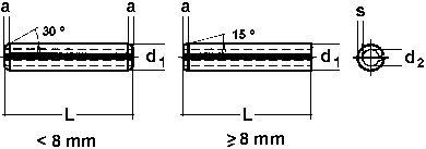DIN 7346 — штифт трубчатый пружинный разрезной.